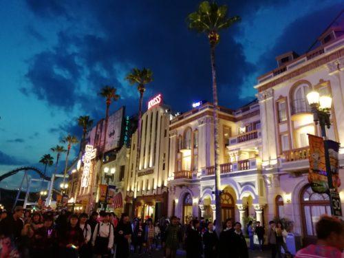 ハリウッド大通りの夜景1