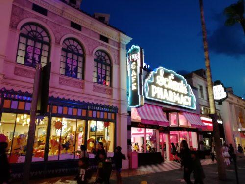 ハリウッド大通りの夜景2