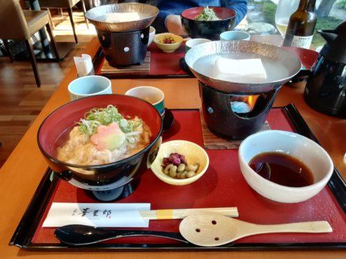 湯葉丼湯豆腐付き