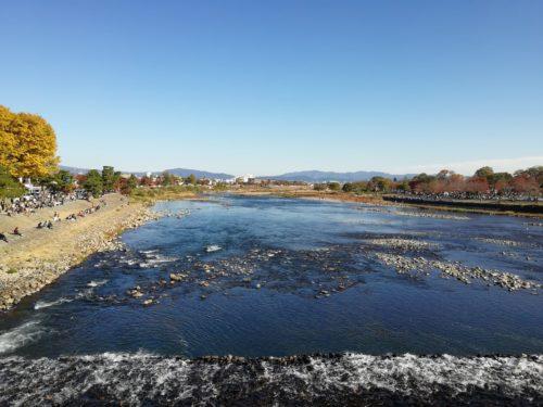 渡月橋からの桂川