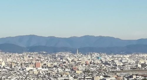 展望台から京都タワー