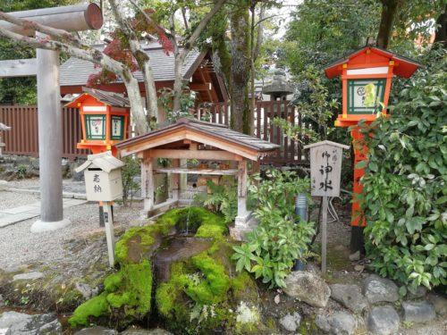 八坂神社の湧き水