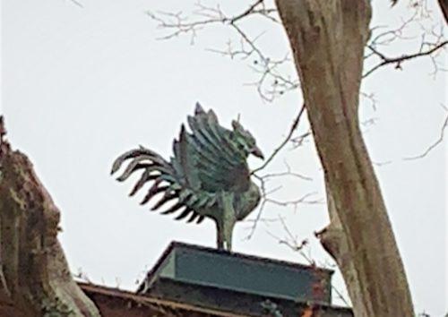 観音殿の鳳凰