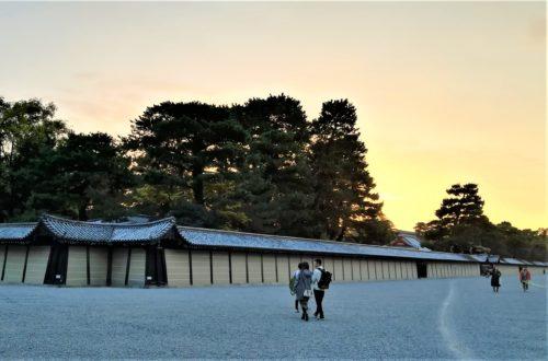 京都御苑の夕焼け
