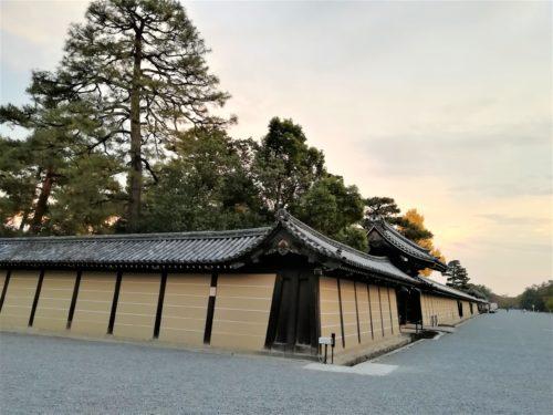 京都御苑の築地塀