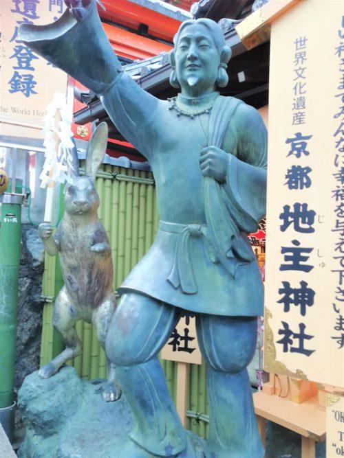 地主神社の大国主命像2