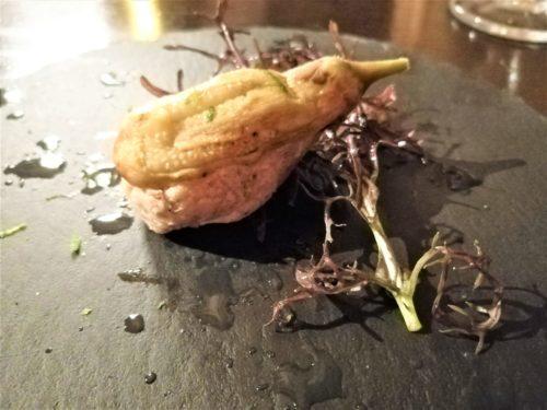 イカリヤ茄子の肉詰め