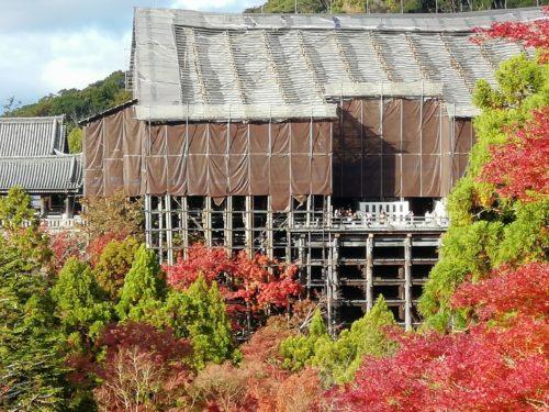清水寺の修復工事