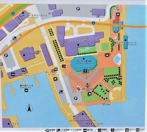 メリケンパーク園内地図