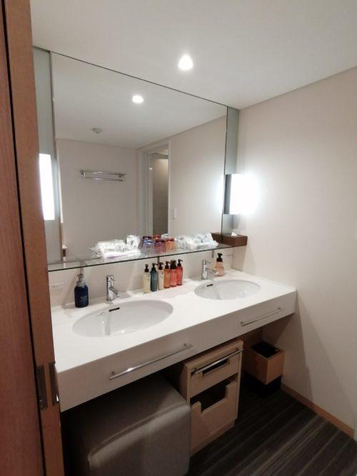 連の部屋の洗面所