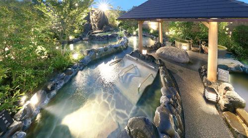 連の露天大浴場