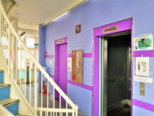 ポートタワー4階エレベーター