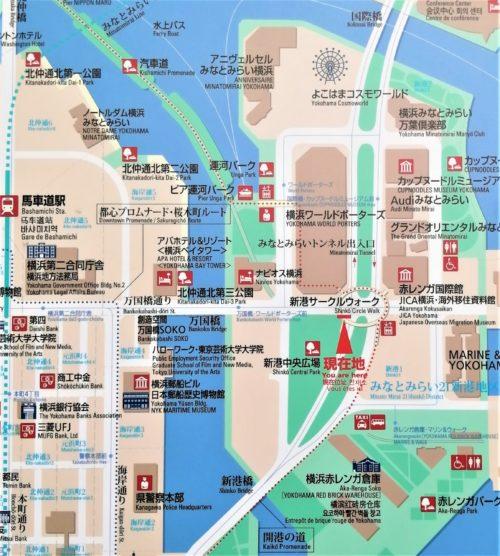 みなとみらい地区の地図