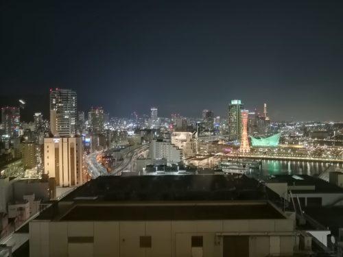 万葉倶楽部16階夜景1