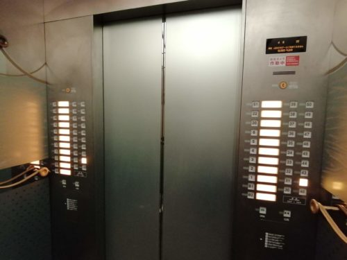 アートホテルエレベーター
