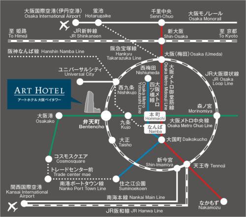 大阪の電車の地図