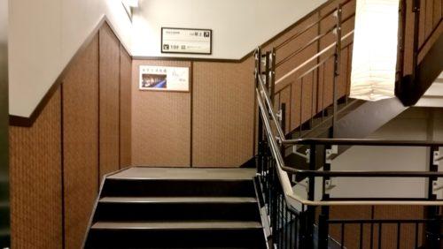 万葉倶楽部の足湯階段1