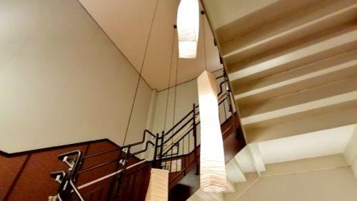 万葉倶楽部の足湯階段4