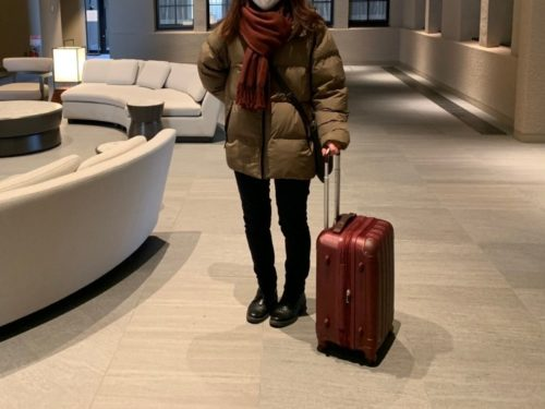 スーツケース使用