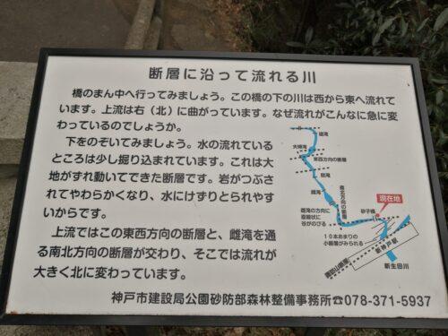 布引の滝遊歩道看板2