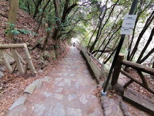 布引の滝の遊歩道1