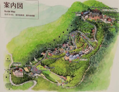 ハーブ園の園内地図