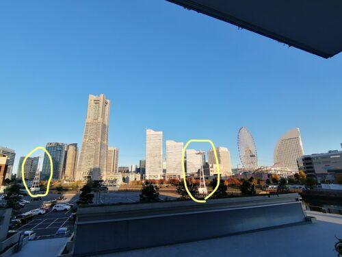 アパホテル横浜ベイタワーからの鉄塔