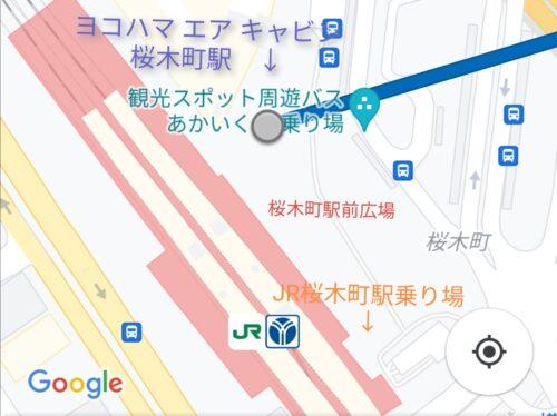 エアキャビンの桜木町駅の地図