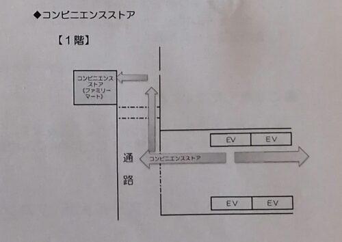 モントレのコンビニの地図