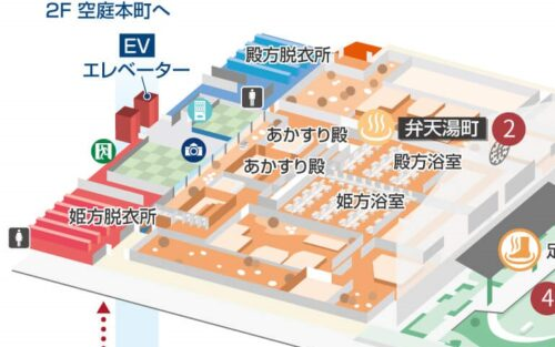 弁天湯町の地図
