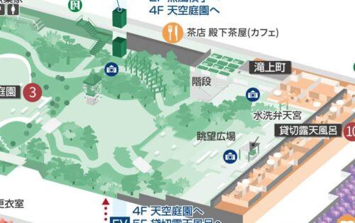 眺望広場の地図