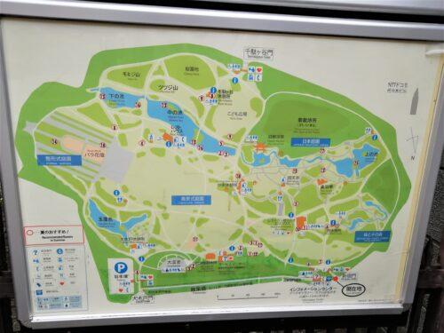 新宿御苑園内マップ