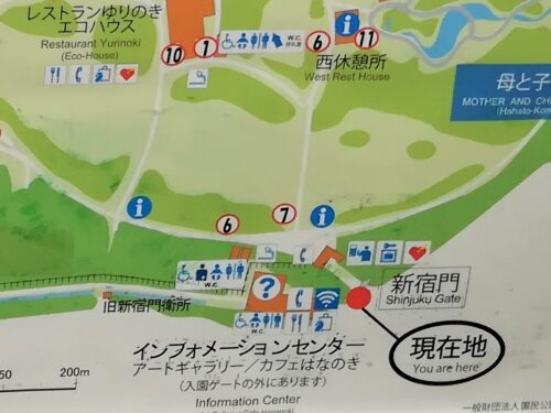 新宿門周辺地図