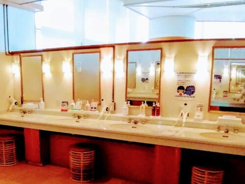 後楽園ホテル大浴場パウダールーム1