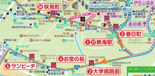 熱海路線バスルートマップ2